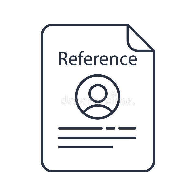 Icono del color de la letra de referencia Letra de recomendación Referencia de empleo Aplicación de trabajo Ilustración aislada d ilustración del vector
