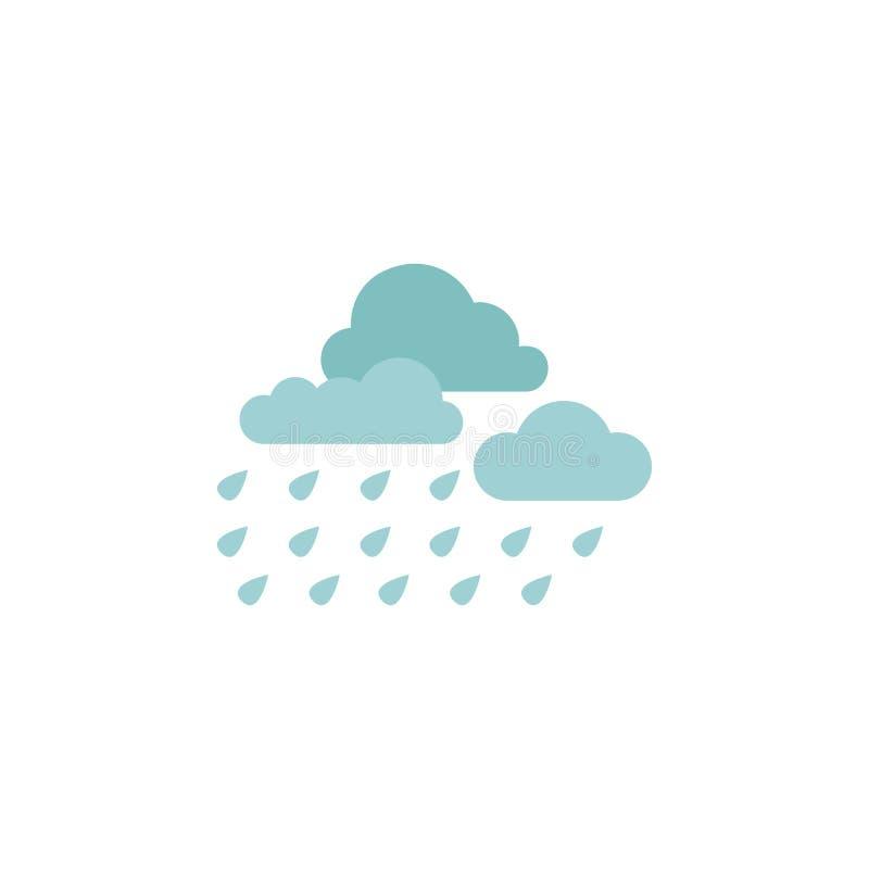 Icono del color de la lluvia de la nube de tormenta Elementos de los iconos coloreados multi del país de las maravillas del invie stock de ilustración