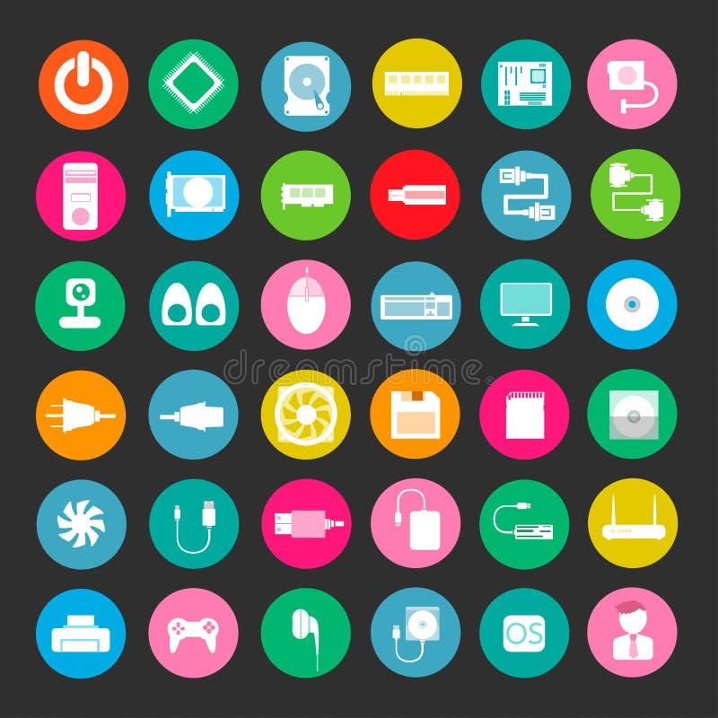 Icono del color del ordenador stock de ilustración
