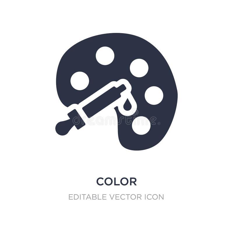 Icono del color en el fondo blanco Ejemplo simple del elemento del concepto de comercialización de los medios sociales stock de ilustración