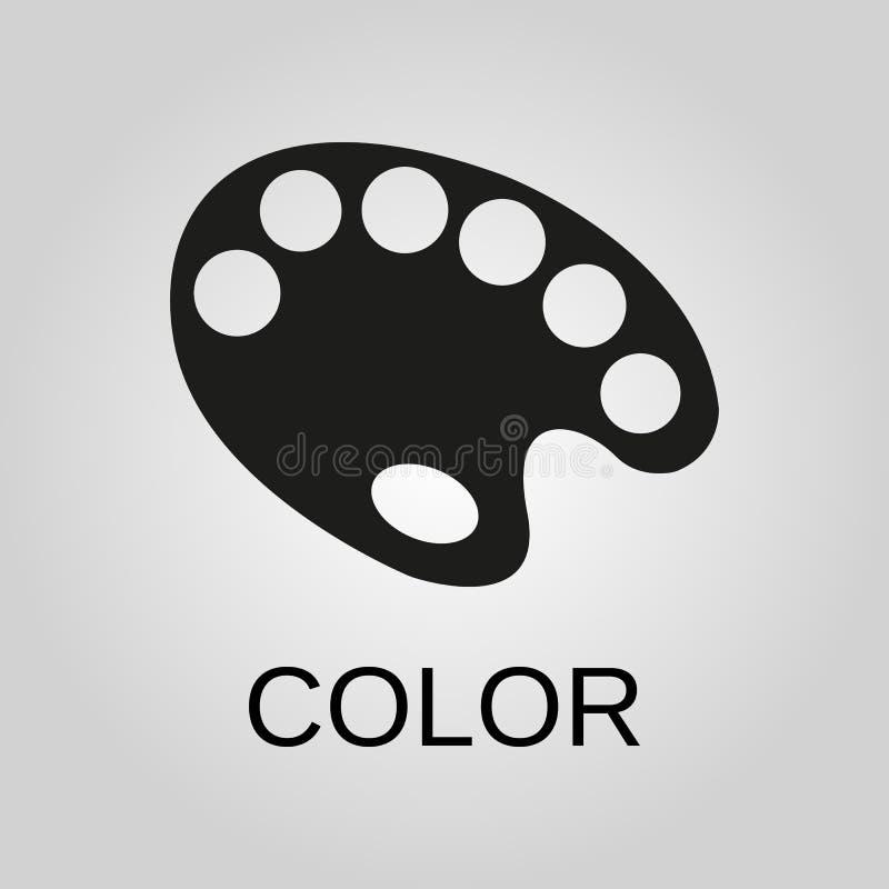 Icono del color Símbolo del color Diseño plano Acción - ejemplo del vector libre illustration