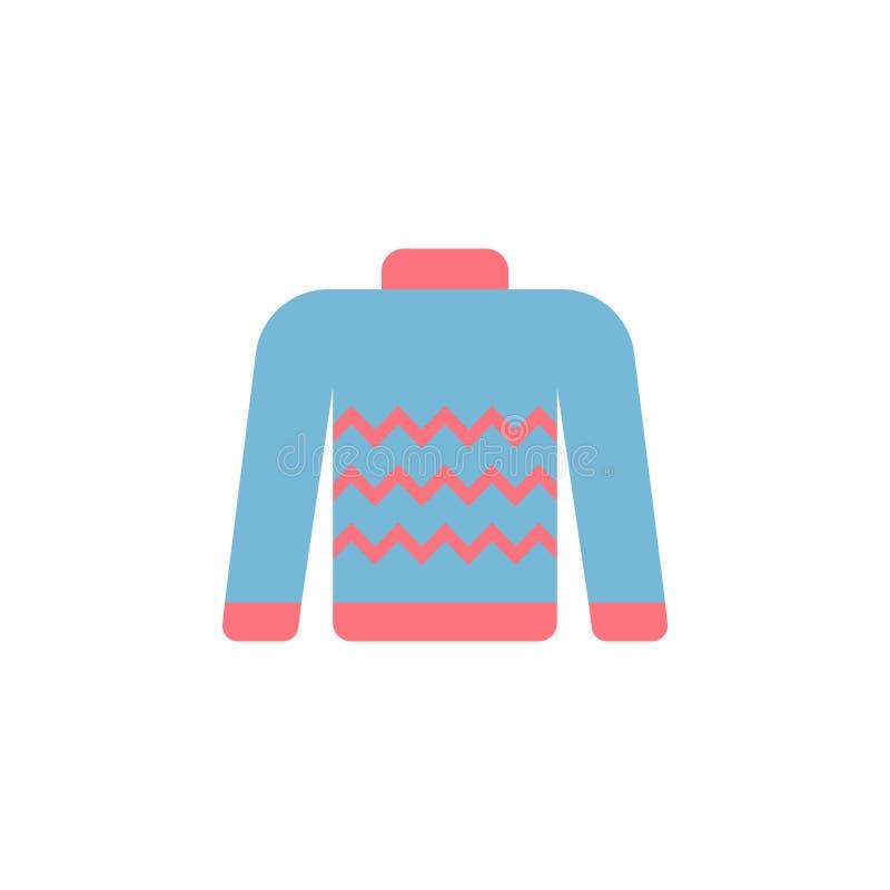 Icono del color del suéter Elemento del icono de la ropa del color para los apps móviles del concepto y de la web El icono detall libre illustration