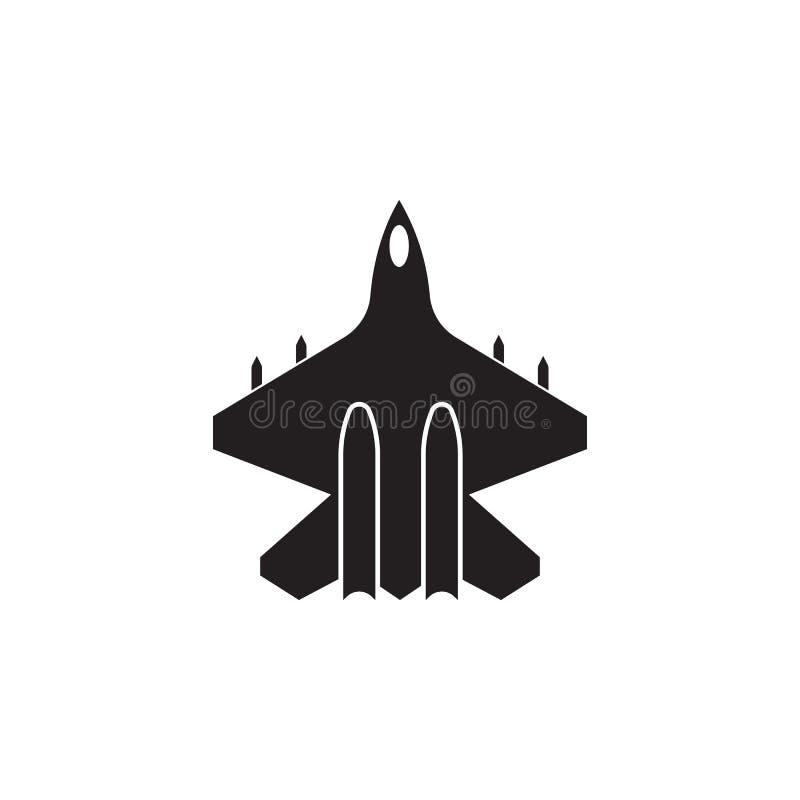 Icono del combatiente Elemento de la opinión del transporte desde arriba del icono Uno del icono de las colecciones para el diseñ stock de ilustración