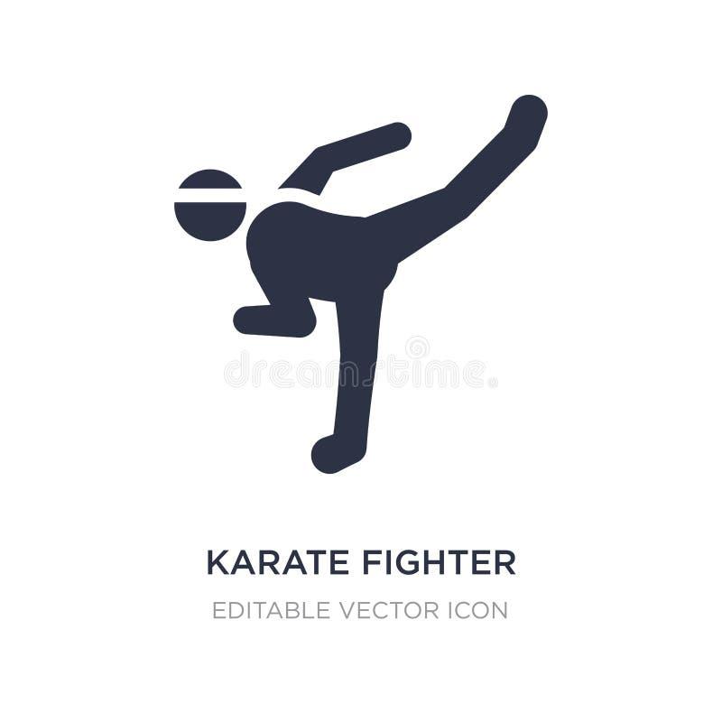 icono del combatiente del karate en el fondo blanco Ejemplo simple del elemento del concepto de los deportes libre illustration