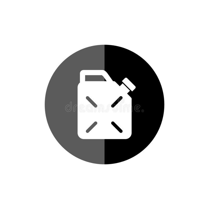 Icono del combustible del bidón, poder del gas, bote de la gasolina stock de ilustración