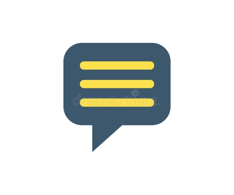 Icono del comentario Ejemplo del vector en estilo minimalista plano libre illustration