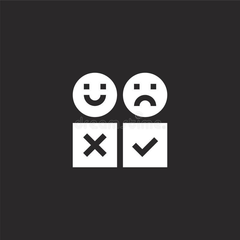 Icono del comentario Icono llenado del estudio para el diseño y el móvil, desarrollo de la página web del app icono del estudio d libre illustration