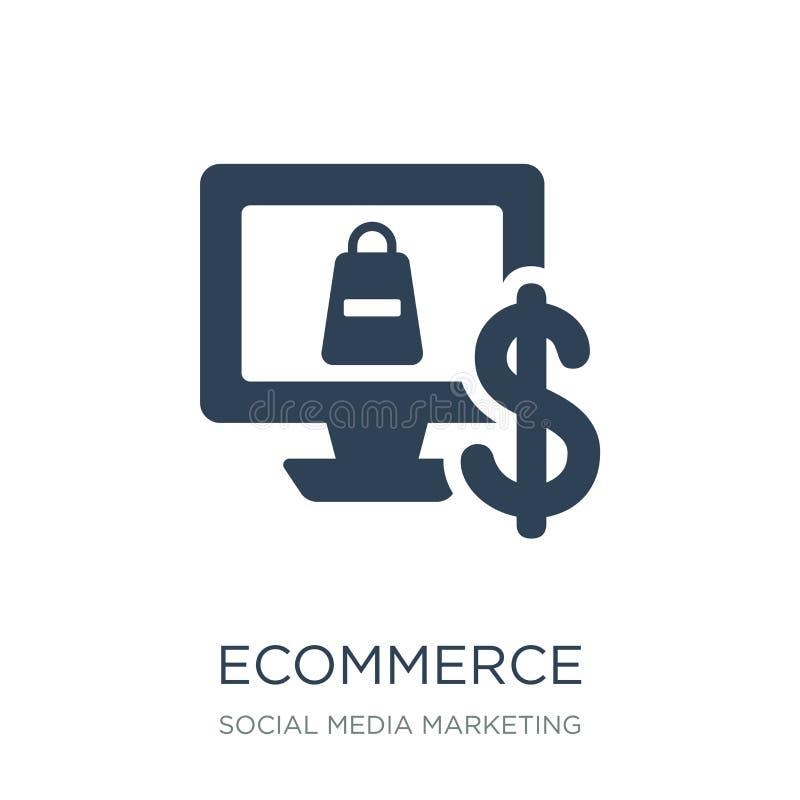 icono del comercio electrónico en estilo de moda del diseño icono del comercio electrónico aislado en el fondo blanco plano simpl libre illustration