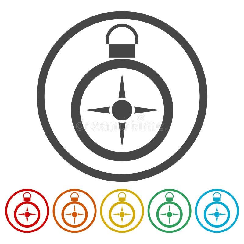 Icono del comp?s ilustración del vector
