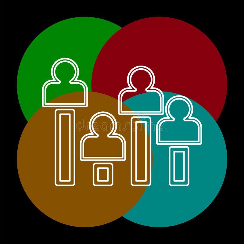 Icono del concepto de la encuesta a pie de urna ejemplo del elemento ilustración del vector