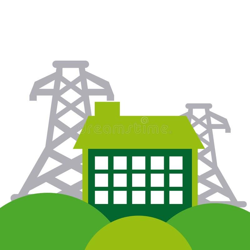 Icono del concepto de la industria energética libre illustration