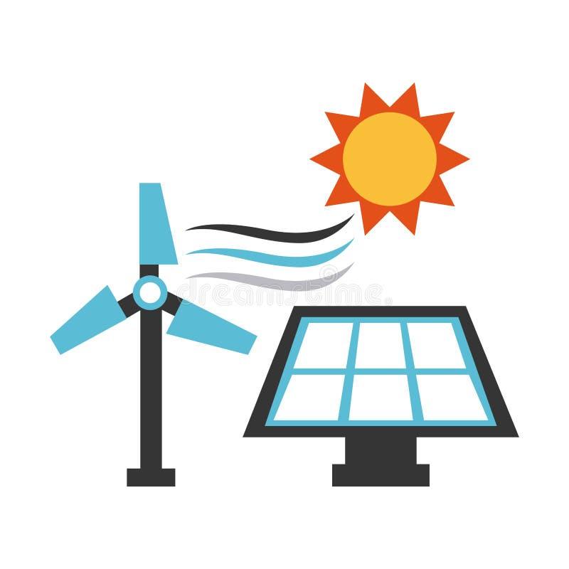Icono del concepto de la industria energética ilustración del vector
