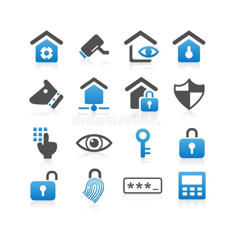 Icono del concepto de la seguridad en el hogar ilustración del vector