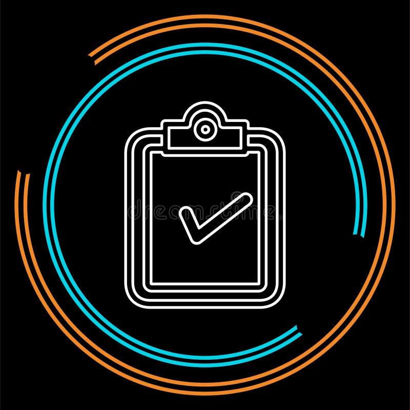Icono del concepto de la validación ejemplo del elemento libre illustration