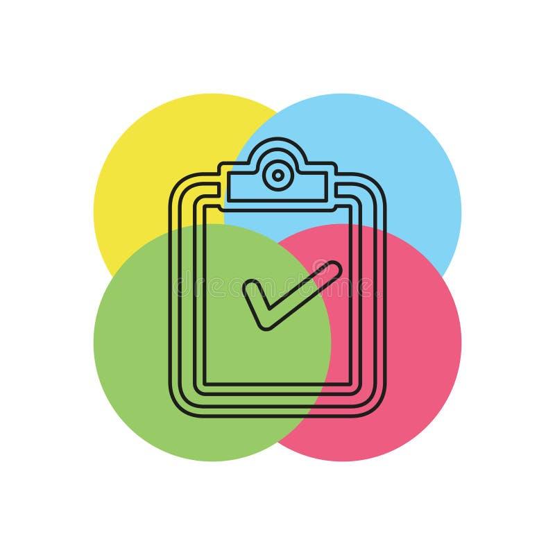 Icono del concepto de la validación ejemplo del elemento ilustración del vector