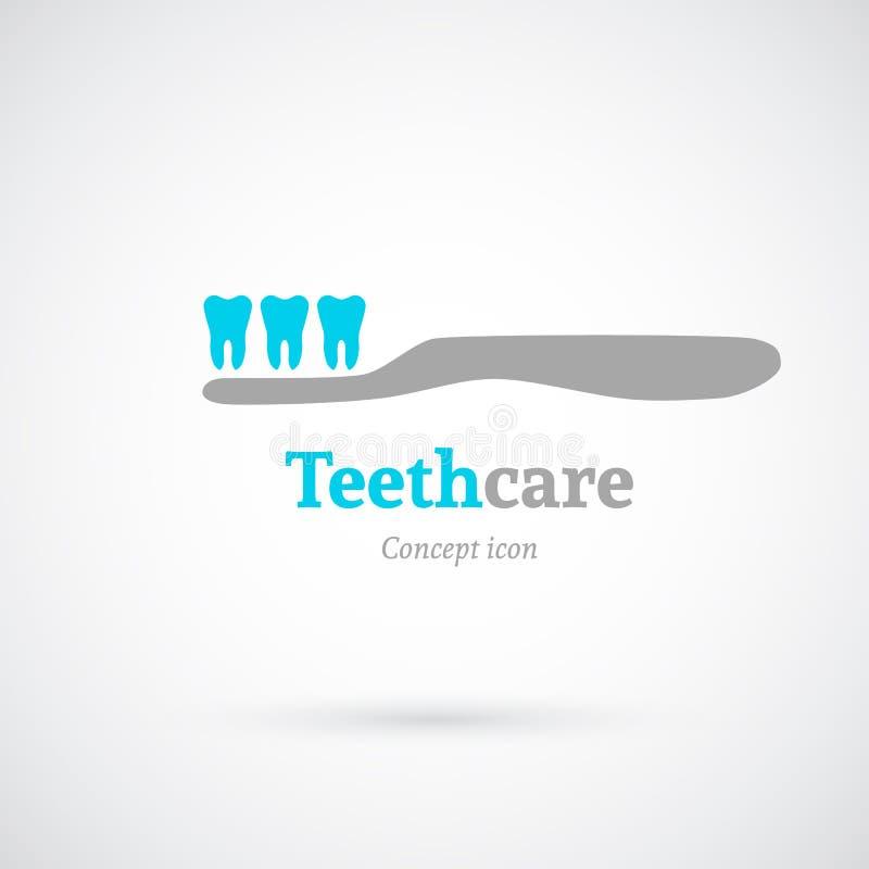 Icono del concepto del cuidado del diente libre illustration