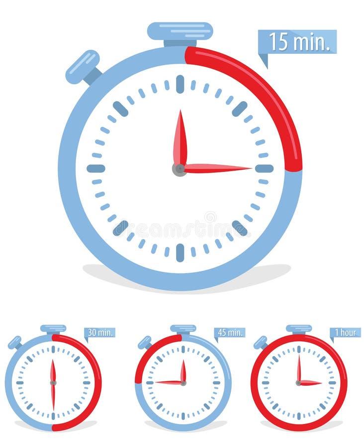 Icono del concepto del tiempo stock de ilustración