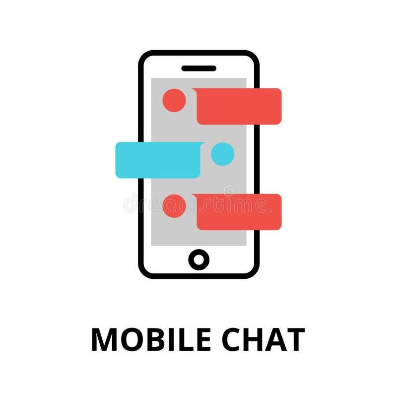 Icono del concepto móvil de la charla, ejemplo del vector ilustración del vector