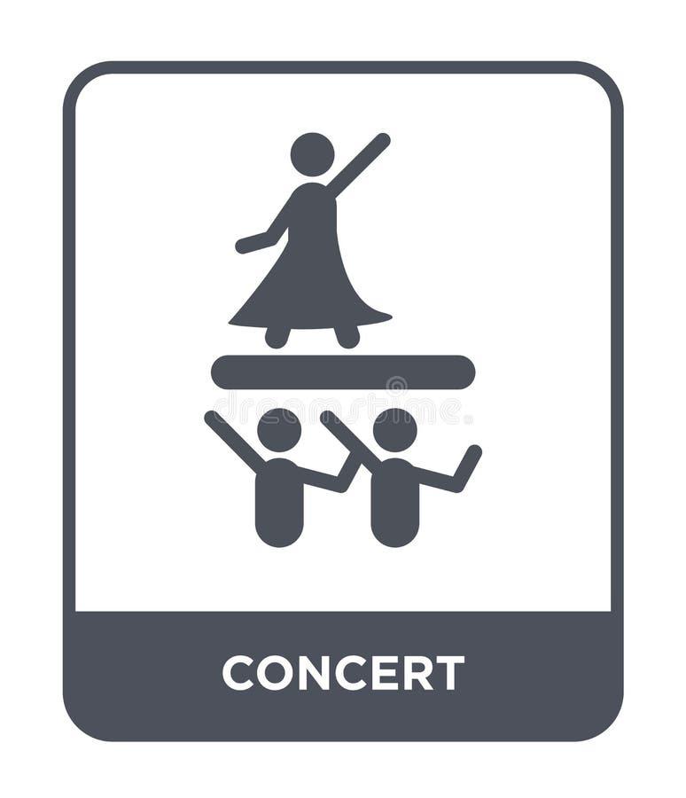 icono del concierto en estilo de moda del diseño icono del concierto aislado en el fondo blanco símbolo plano simple y moderno de stock de ilustración