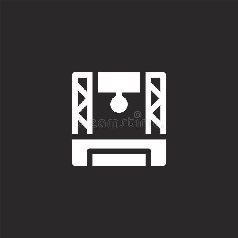 Icono del concierto Icono llenado del concierto para el diseño y el móvil, desarrollo de la página web del app icono del conciert libre illustration
