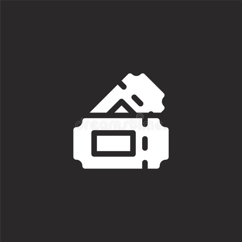 Icono del concierto Icono llenado del concierto para el diseño y el móvil, desarrollo de la página web del app icono del conciert stock de ilustración