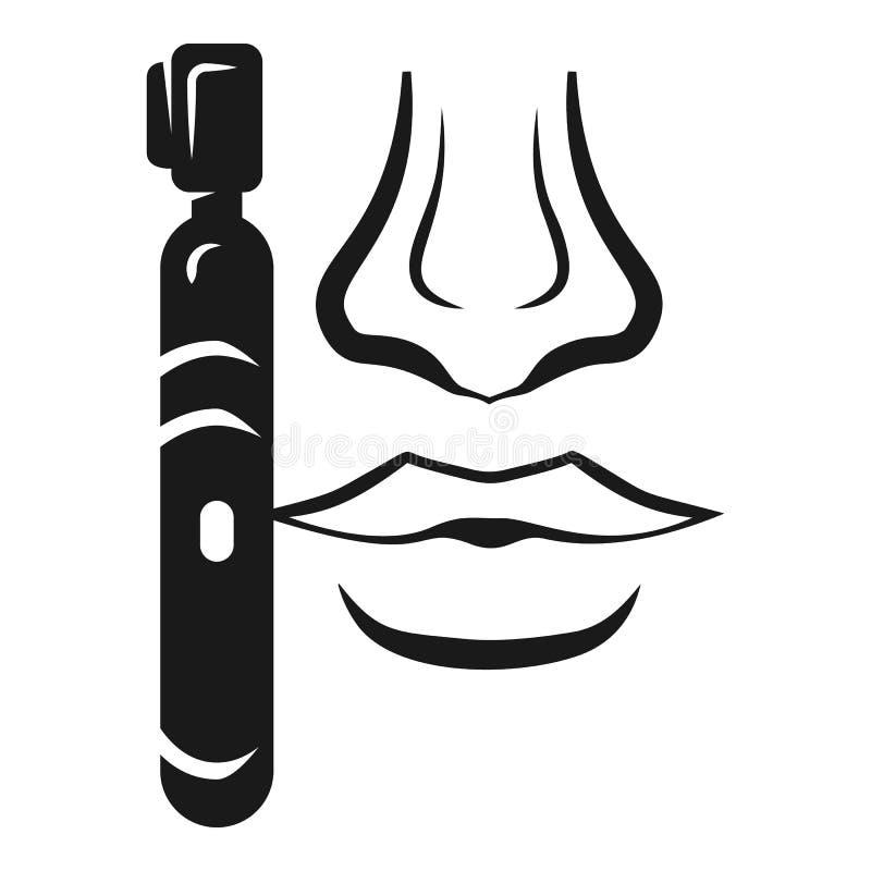 Icono del condensador de ajuste de la nariz, estilo simple ilustración del vector