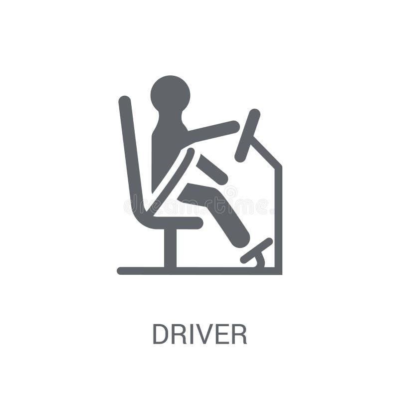 Icono del conductor  ilustración del vector