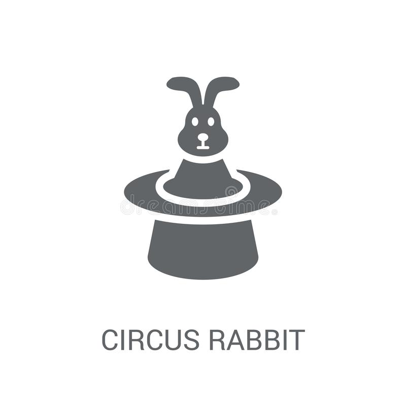 Icono del conejo del circo  stock de ilustración