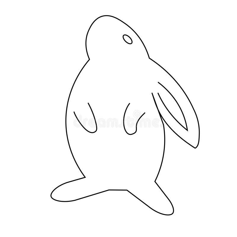 Icono del conejo Icono linear plano moderno de moda del conejo del vector en el fondo blanco de la línea fina colección de los an libre illustration