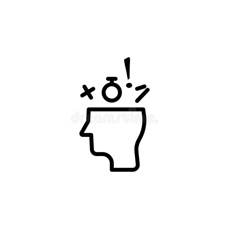 Icono del conocimiento ilustración del vector