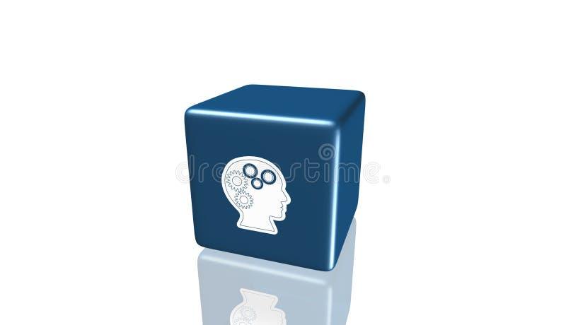 Icono del conocimiento, 3D ejemplo, el mejor icono stock de ilustración
