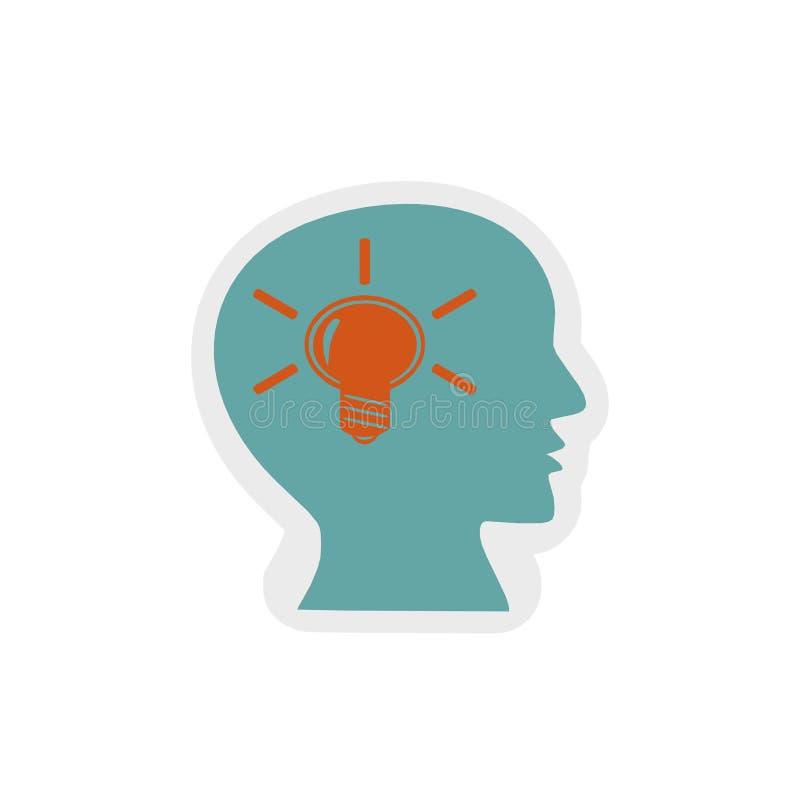 Icono del conocimiento, ejemplo 3D stock de ilustración