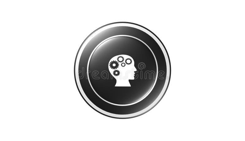 Icono del conocimiento, muestra, el mejor ejemplo 3D ilustración del vector