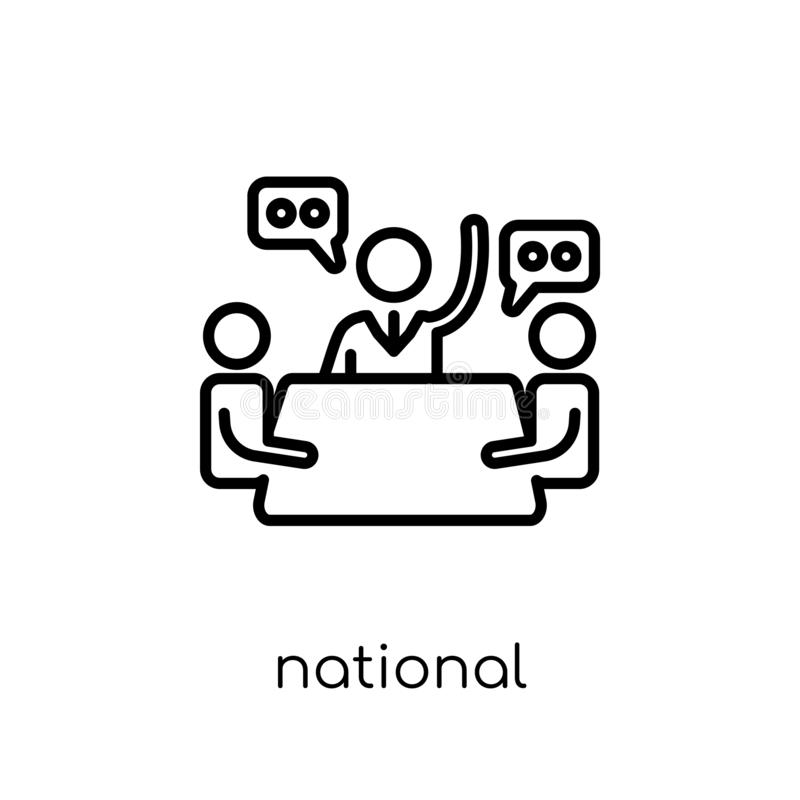 Icono del consejo económico nacional  ilustración del vector