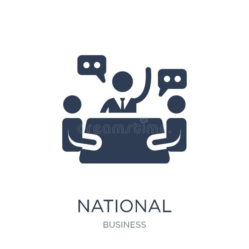 Icono del consejo económico nacional Vector plano de moda Econ nacional stock de ilustración