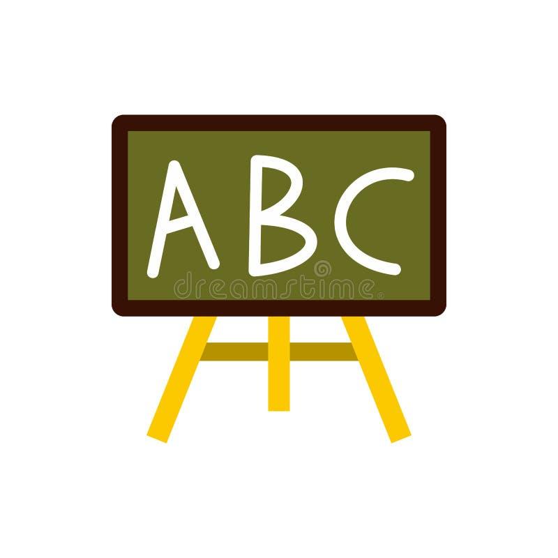 Icono del consejo escolar, estilo plano ilustración del vector