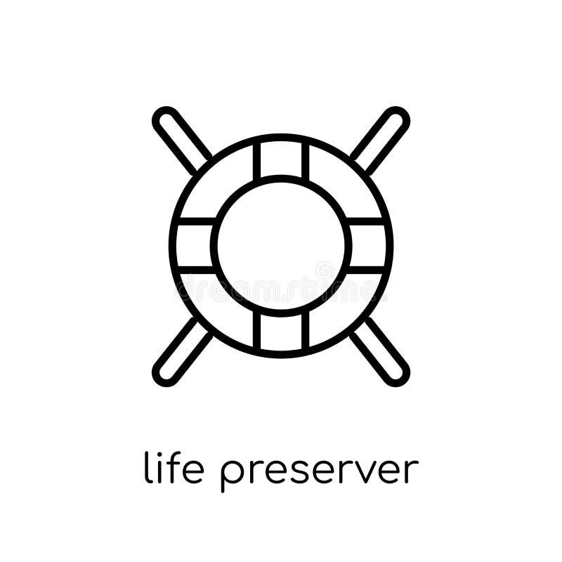 icono del conservante de vida Vida linear plana moderna de moda del vector prese stock de ilustración