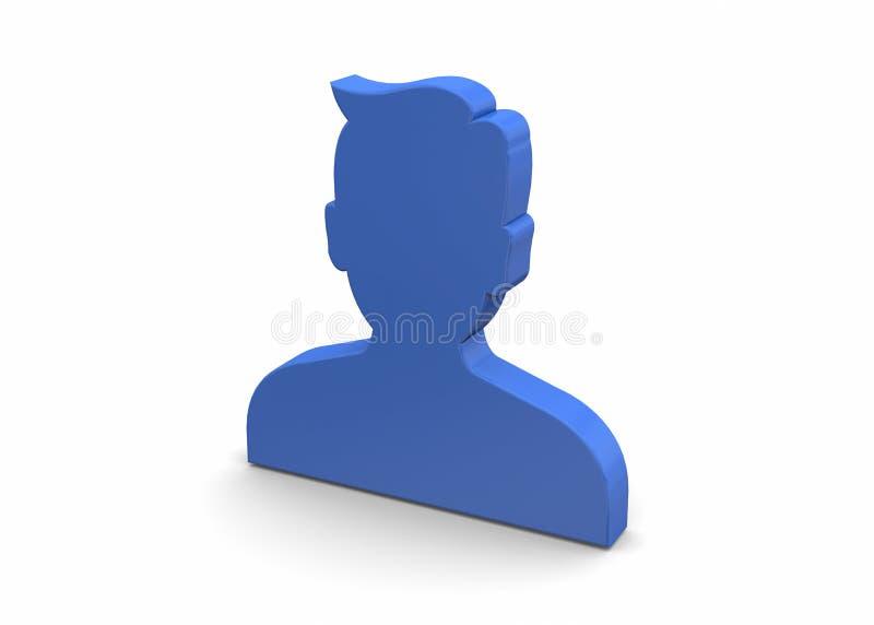 Icono del contacto - 3D libre illustration
