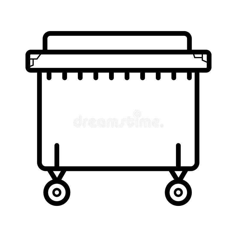 Icono del contenedor stock de ilustración