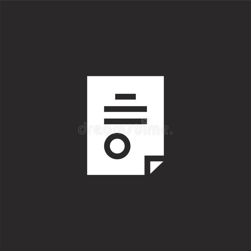 Icono del contrato Icono llenado del contrato para el diseño y el móvil, desarrollo de la página web del app icono del contrato d stock de ilustración