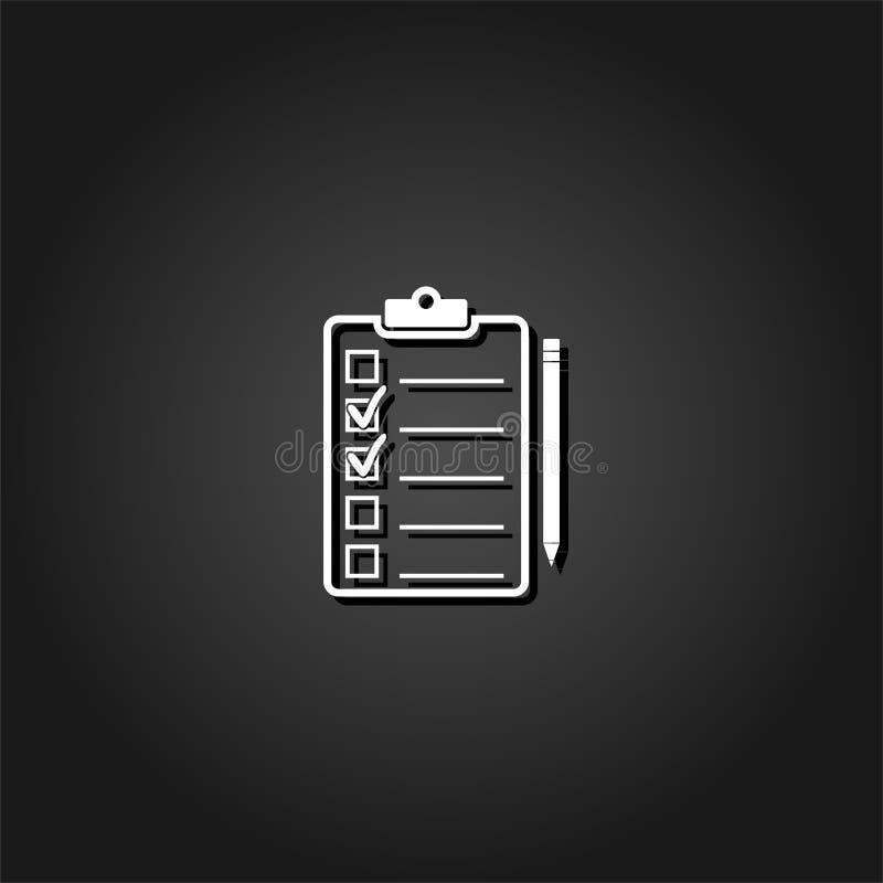 Icono del control de calidad plano stock de ilustración