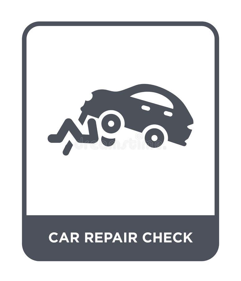 icono del control de la reparación del coche en estilo de moda del diseño icono del control de la reparación del coche aislado en libre illustration