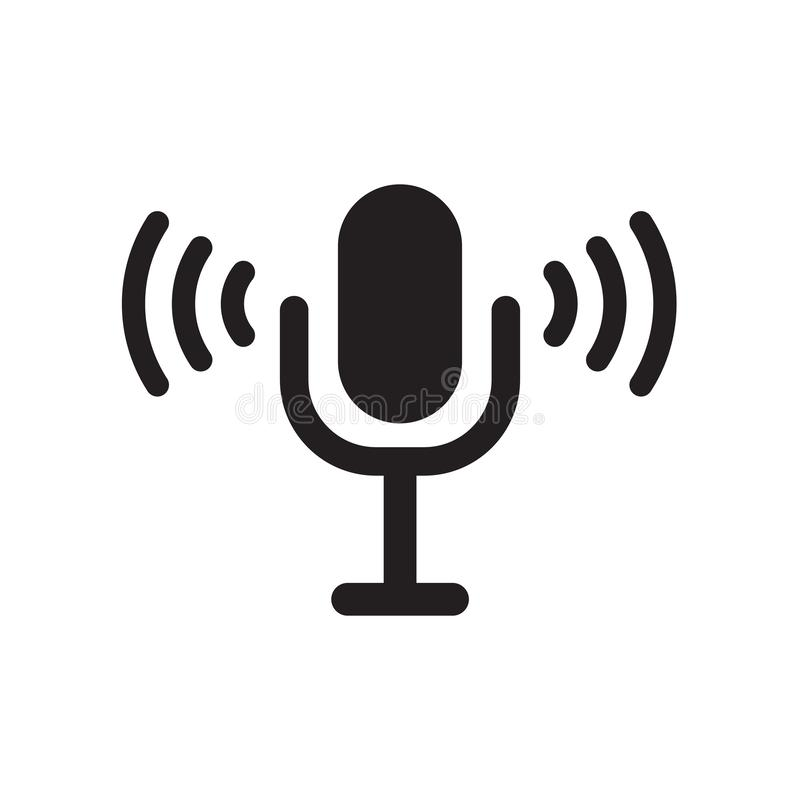 Icono del control de la voz  libre illustration