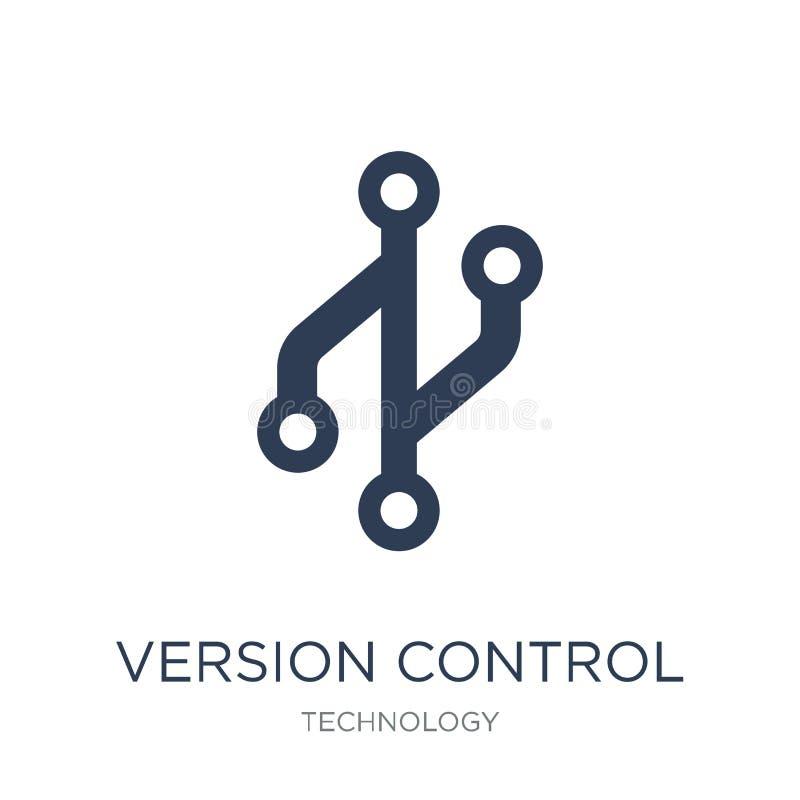Icono del control de versiones Icono plano de moda del control de versiones de vector encendido libre illustration