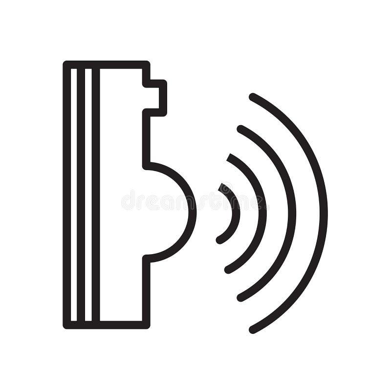 icono del control por voz aislado en el fondo blanco libre illustration