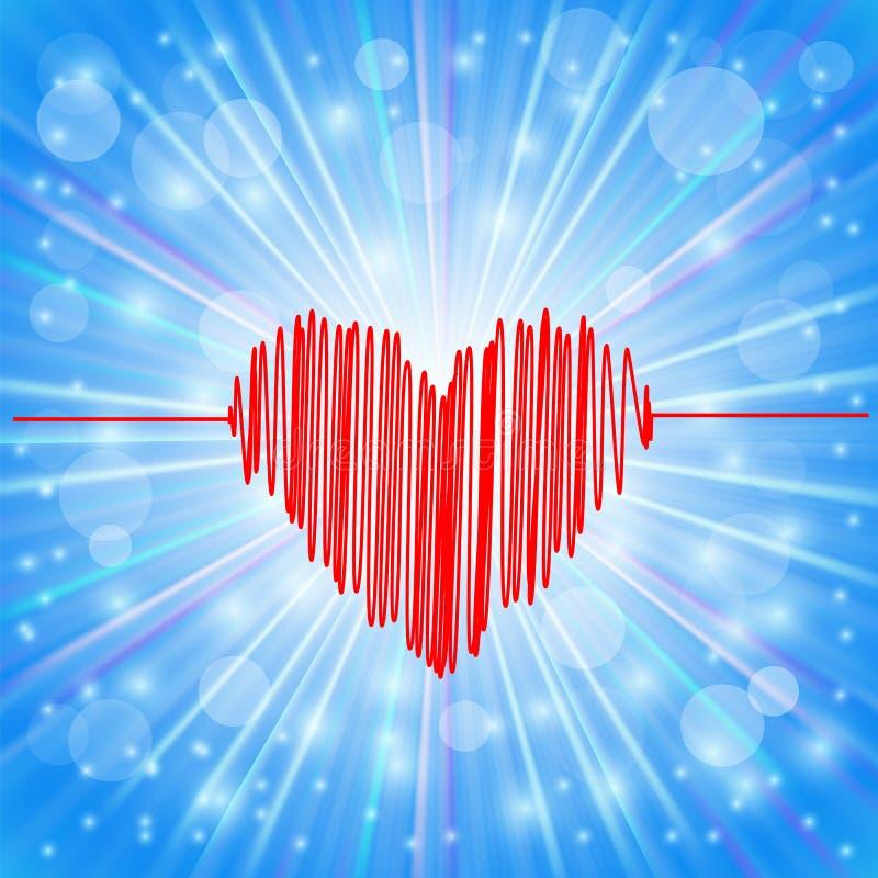 Icono del corazón stock de ilustración