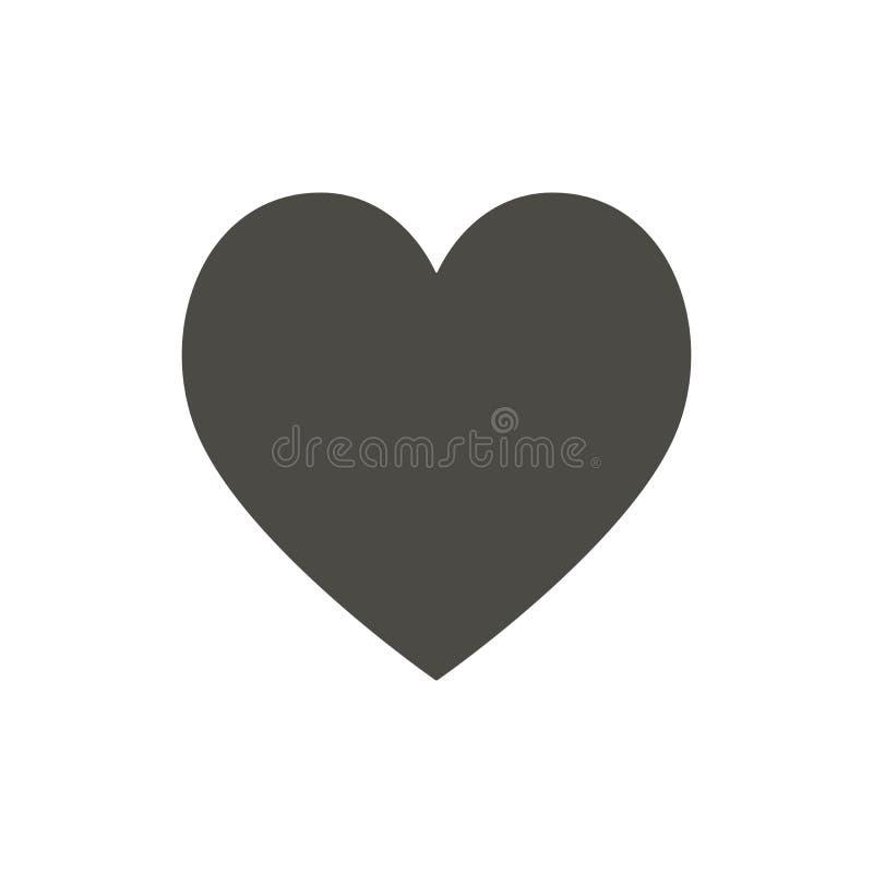 Icono del corazón, como vector Símbolo del amor Diseño plano de moda de la muestra del ui Pictograma gráfico del corazón para el  libre illustration