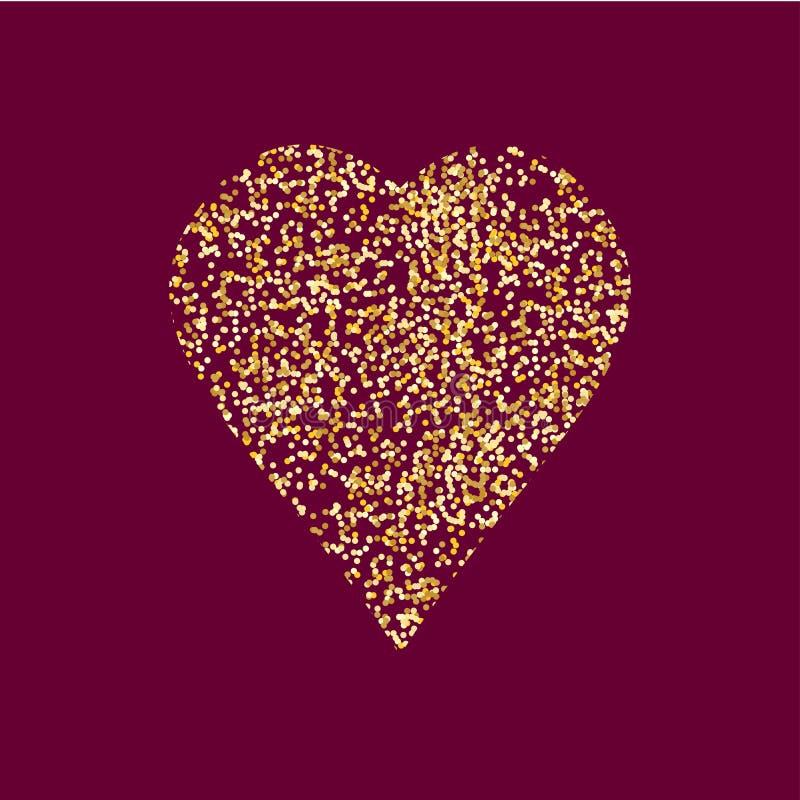 Icono del corazón, ejemplo del vector foto de archivo