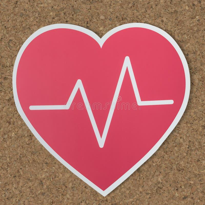 Icono del corazón para el concepto sano fotografía de archivo libre de regalías