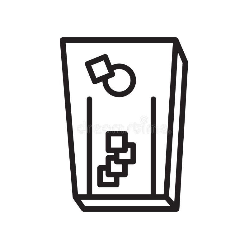 icono del cornhole aislado en el fondo blanco ilustración del vector